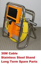 30M Snake Cable Under Water Sewer Drain Pipe Wall Inspection Camera with Stand