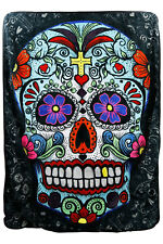 "Suger Skull Mulit-Color 50"" x 60"" Soft Plush Fleece Throw Blanket"