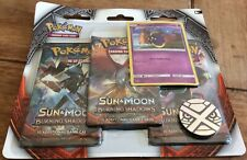 Pokemon - Burning Shadows 3 booster blister pack sealed - 100% Original