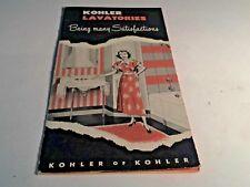 1949 Kohler Of Kohler Lavatories  Bathrooms Vintage Brochure Pamphlet
