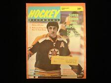 February 1971 Hockey Pictorial Magazine - Phil Esposito Cover