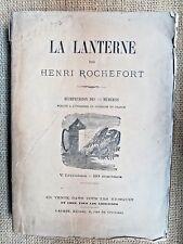 """Recueil journal """"La Lanterne"""", par ROCHEFORT, étranger, Interdit en France- 4993"""