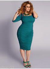 NWT Plus Size Designer IGIGI Felina Dress in Teal, 14/16