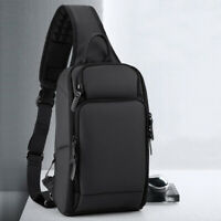 Water Resistant Sling Backpack Chest Pack Single Strap Daypack Charging Port