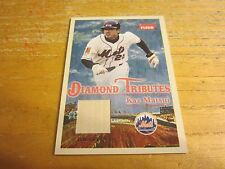 Kaz Matsui 2005 Fleer Tradition Diamond Tributes Game Used #KM Bat Card MLB Mets