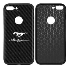 Ford Mustang Script TPU Carbon Fiber Look iPhone 7 Plus, 8 Plus Cell Phone Case