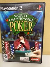 World Championship Poker PlayStation 2 PS2 Game Disc, Case