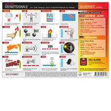 Seenotsignale - Info-Tafel DIN A4, laminiert # Notsignale SOS Boot 9783934705289