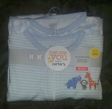 NEW Carter's JOY 2-Pack of 6-Month Baby Boy Long-Sleeve Sleep & Play Sleepers