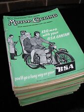 Motor Cycling  Magazine 1957. Full Year every Issue. Job Lot. Collection.