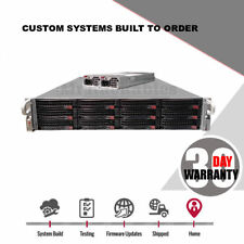 2U Supermicro 12 bay 2x Xeon E5-2630 v1 12 cores 48GB Ram FREENAS SERVER