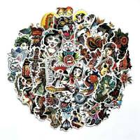 50 Pcs Old-fashioned Vintage Girls Animal Stickers Laptop Car Helmet Cxz