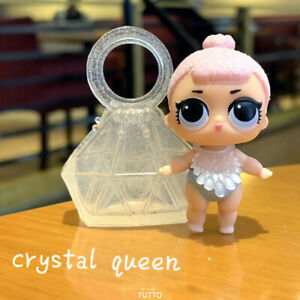 With bag dress  LiL Sisters Crystal Queen SERIES 2 Dolls Gift