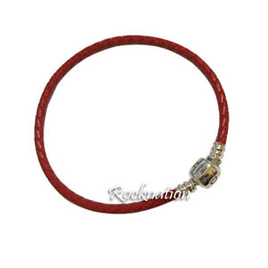 Authentic Pandora Woven Red Braided Leather Bracelet 590705CRD