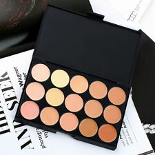 New 15 Colours Concealer Palette Kit with Brush Face Makeup Contour Cream #2 UK
