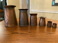 RARE ANTIQUE COPPER LIQUID MEASURERS FOR BAR/TAVERN