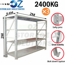 Longspan Shelving Warehouse Racking Garage Storage Shelves 2M x 6M x 0.6M