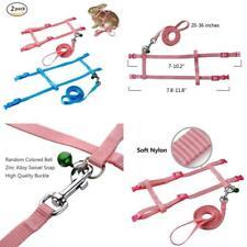Persuper - 2 Pack Pet Rabbit Harness Leash For Soft Nylonrunningwalking Jogging