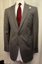 NWT Brooks Brothers 1818 Madison Gray Drago Wool Suit 39L  Retail $1198