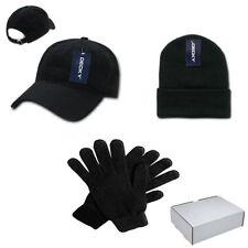 DECKY Winter Essentials Gift Boxed Set for Men - Cotton Dad Hat, Beanie, Gloves