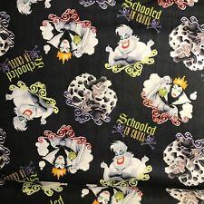 Fabric Schooled in Cruel Disney Cotton Fabric Priced per Yard Ursula Cruella