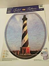 "Toilet Tattoos Lighthouse Round Toilet Lid Cover 12""x13.5"""