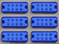 6 pz 12V 8 LED lato Esterno Indicatore Blu Luci SUV Offroad Rimorchio Camper