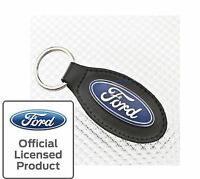 NEW RICHBROOK FORD OVAL REAL LEATHER KEY RING - GENUINE FORD MERCHANDISE