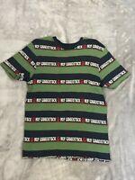HUF Woodstock Bethel Men's Shirt Medium M Sold Out Tillys Stripe Green Blue