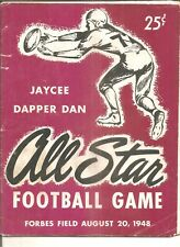 1948 Jaycee Dapper Dan football game program, Forbes Field, loose center