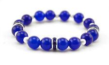 Pulsera De Piedra Preciosa Semi Hecha a Mano Azul Zafiro Piedra Cuentas Regalo de San Valentín