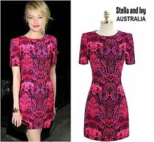 VIBRANT PINK COCKTAIL DRESS SIZE 10 AU WOMENS NEW
