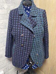Joe Browns Designer  Coat. Size 16. Blue