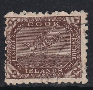 Cook Islands 1902 White Tern 2d brown SG31 - good used