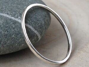 Handmade Sterling Silver Hammered Skinny Stacking Ring
