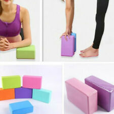 Yoga Block Pilates EVA Brick Foam Stretch Fitness Exercise Sport Gym To YZE