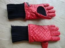 Women's Winter Storm weather Red Black  Gloves Small