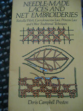 Vtg 1984 Needle-made Laces and Net Embroideries (Dover Knit..Preston/ Paperback