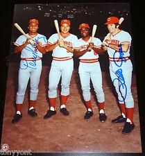 Cincinnati Reds Pete Rose Tony Perez Autographed Photo