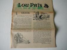 Lou Païs journal régional lozère Mars 1962 Ousta