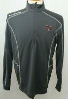 New Texas A&M ATM University Columbia Embroidered LS shirt Gray 1/4 Zip Men's XL