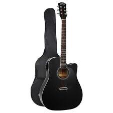 """Alpha 41"""" Electro Acoustic Guitar - Black (ITAR-D-41-EQ-BK)"""