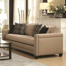 Coaster 505781 Pratten Sofa Couch In Wheat Tone Linen Like Upholstery