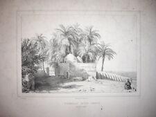 GRAVURE 1860 TOMBEAU D'UN CHEYK PRES LUXOR  EGYPTE