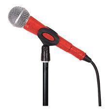MicFX Filaire Microphone Manches Découpe Laser Gamme (Couleur Rouge)