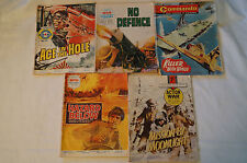 VINTAGE POCKET SIZE - Lot of 5 - War Comics - Great Stories, Great Titles.