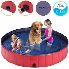 63' Dog Pool Foldable Pet Bath Pool for Kiddie Bathing Swimming Tub Kiddie Pool
