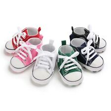 Baby Shoes Boy Girl Star Solid Sneaker Cotton Soft Anti-Slip Sole Casual Canvas
