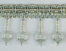 10 Yards Beaded FRINGE Trim for DRAPERY and UPHOLSTERY