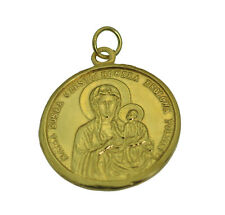 Our Lady Black Madonna of Częstochowa Virgin Mary 24K Gold Plated Charm New